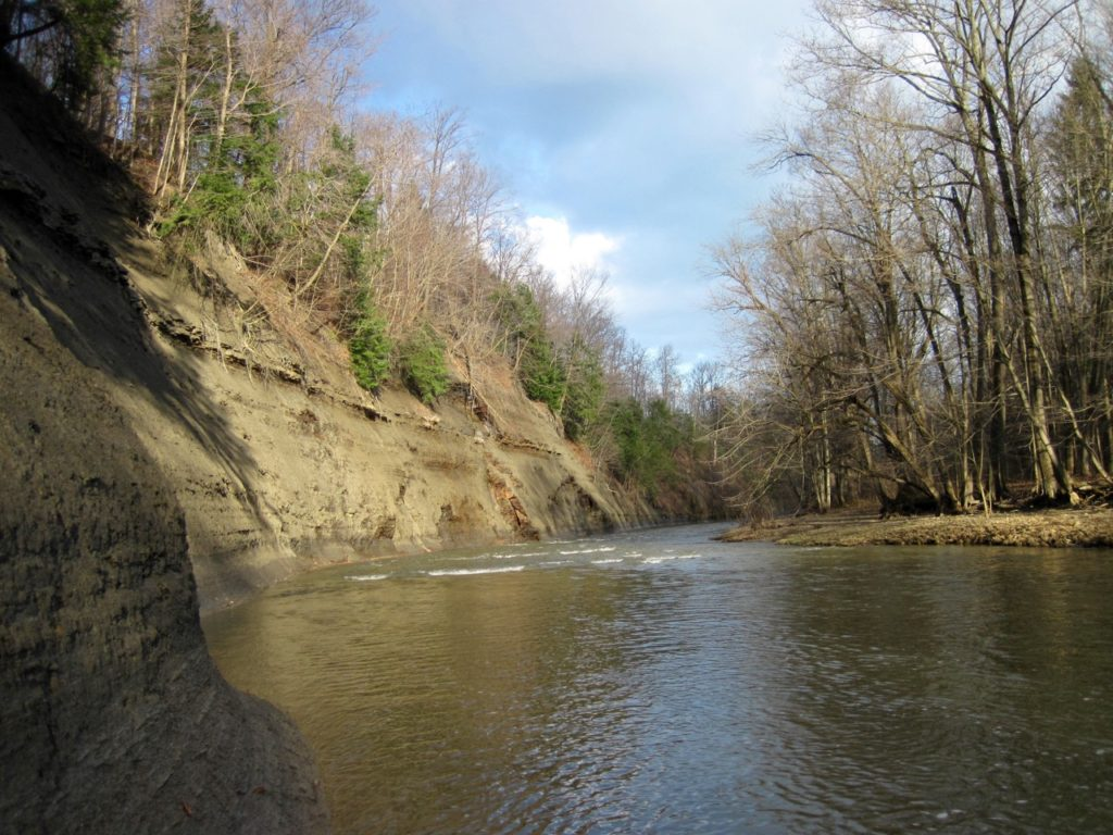 Steelhead Alley tributaries are characterized by high shale cliffs and spectacular beauty.
